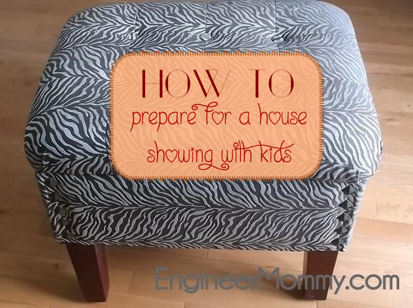 Prepare for House Showing with Kids