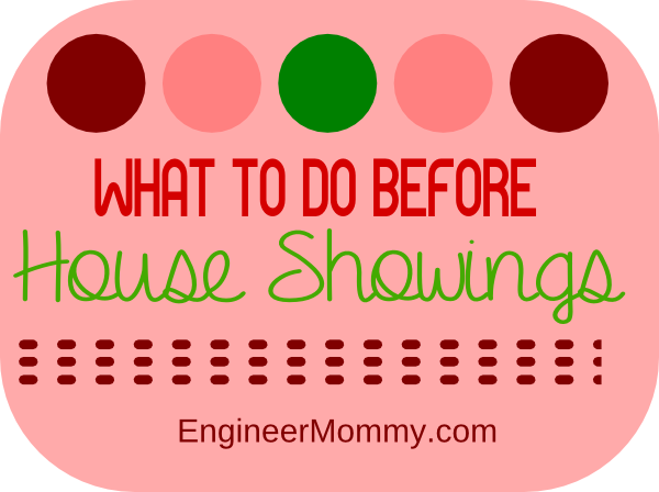 What to do before house showings