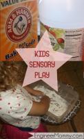 Fun sensory play: baking soda & vinegar