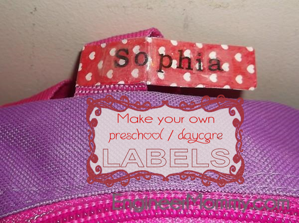 DIY preschool labels / daycare labels