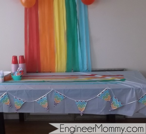 Rainbow party theme ideas