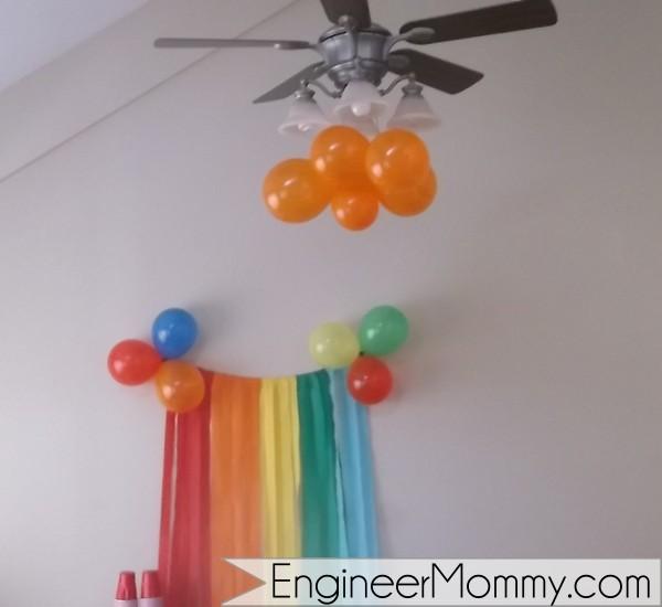 Rainbow party theme