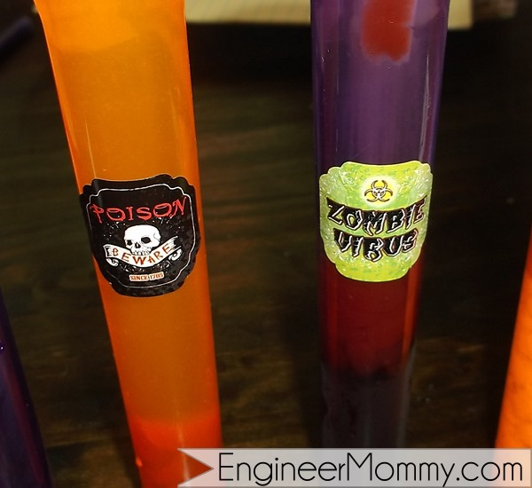 Halloween test tubes