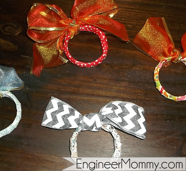 Washi tape and shower rings craft DIY
