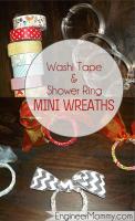 {Craft} washi tape & shower ring mini wreaths