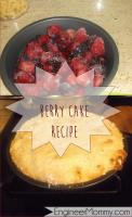 Berry & Yogurt White Cake Cobbler