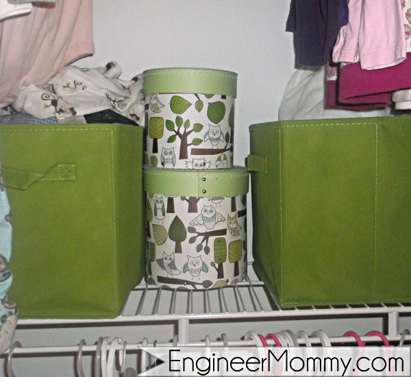 Decorative closet baskets