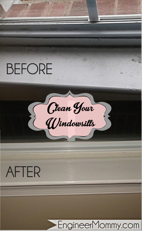 Cleaning up your windowsills
