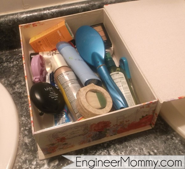 Organizing toiletries