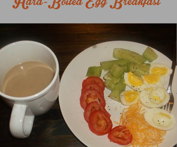 Healthy hard-boiled egg breakfast
