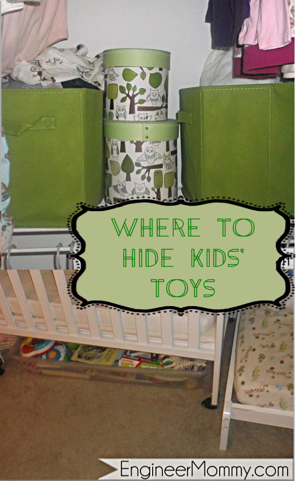Where to hide and store kids' toys