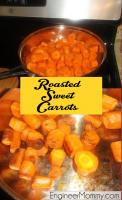 Roasted sweet carrots