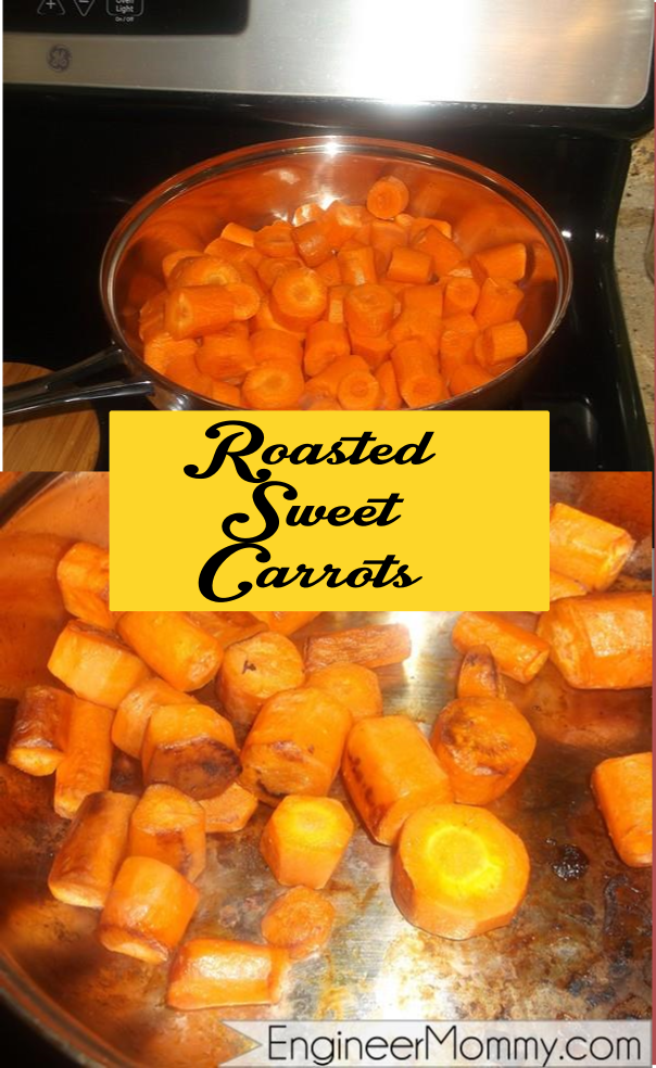 Roasted sweet carrots