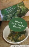 Sesame topped teriyaki broccoli