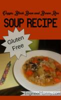 Homemade veggie, bean & rice soup {gluten free}