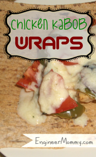 Chicken Kabob Wrap {Recipe}