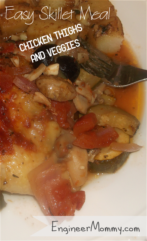 Easy Skillet Meal: Chicken Thighs & Veggies