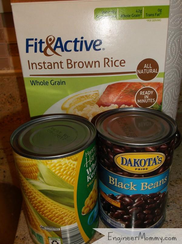 Chicken Burrito Bowl Ingredients