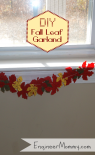 DIY Fall Leaf Garland & Kid's Learning Activity