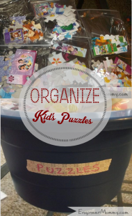 Kid's Toy Organizer: Puzzles