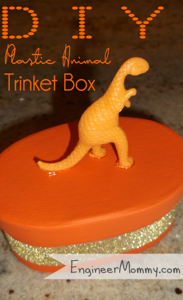 DIY Plastic Animal Trinket Box