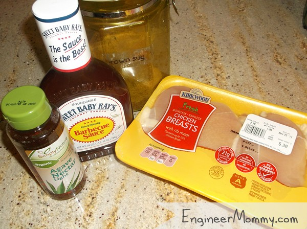 Slow Cooker Barbecue Chicken Sandwich Ingredients