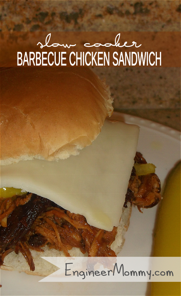 Slow Cooker Barbecue Chicken Sandwich