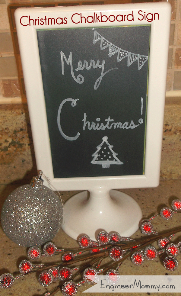 DIY Chalkboard Christmas Sign