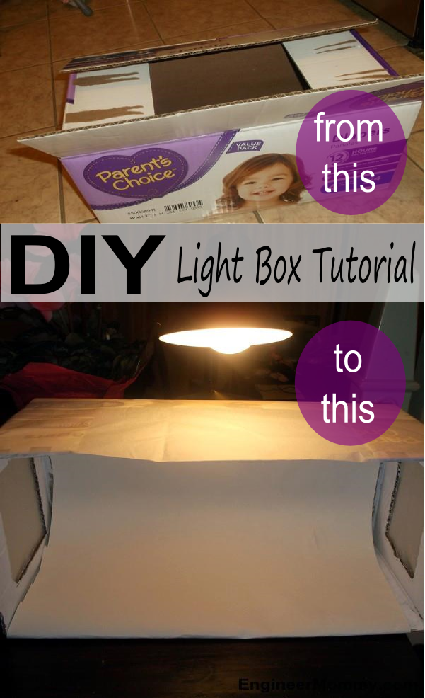 DIY Light Box Tutorial