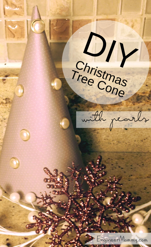 DIY Christmas Tree with Pearl Ornaments