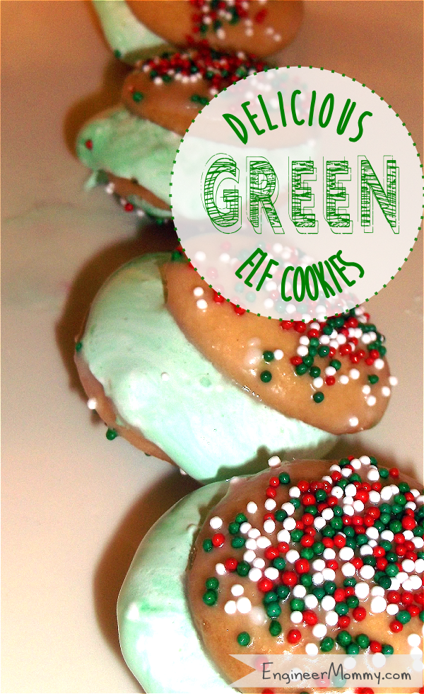 Green Elf Sandwich Cookies {Recipe}