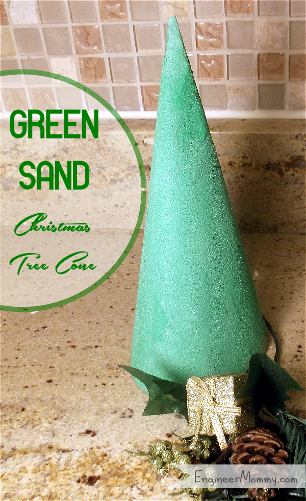 Green Sand Christmas Tree Cone