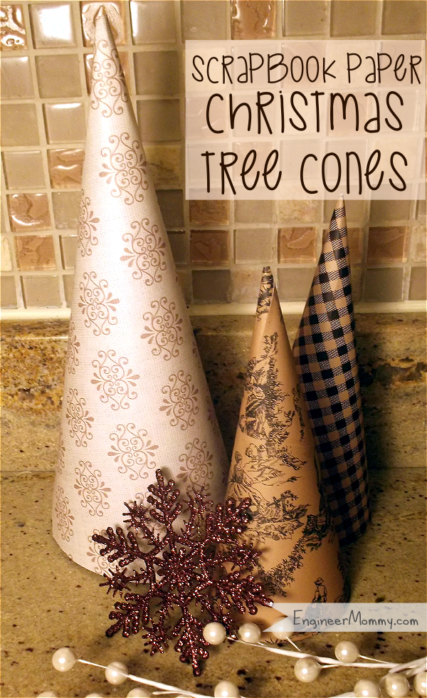 Scrapbook Paper Christmas Tree Cones
