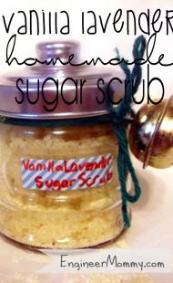 Homemade Lavender Sugar Body Scrub