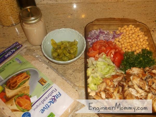 Ingredients for Shawarma Wrap