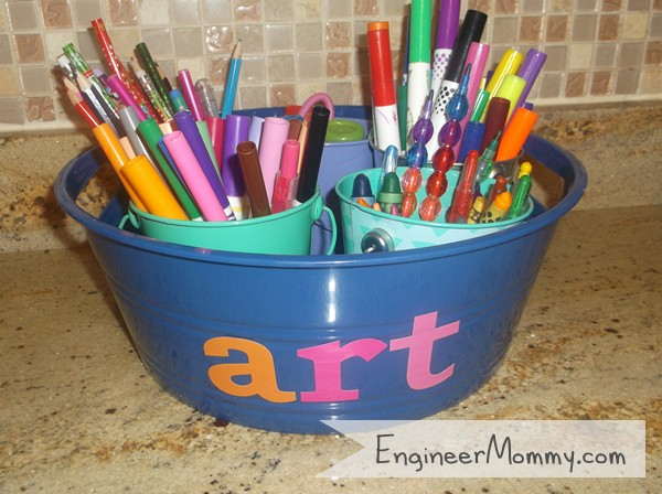 DIY Organizing Art Supplies