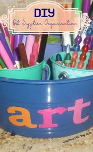 DIY Organizing Art Supplies
