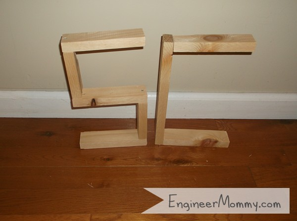 DIY Letter Shelves
