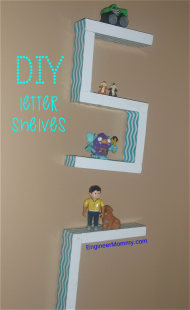 DIY Wooden Letter Shelves