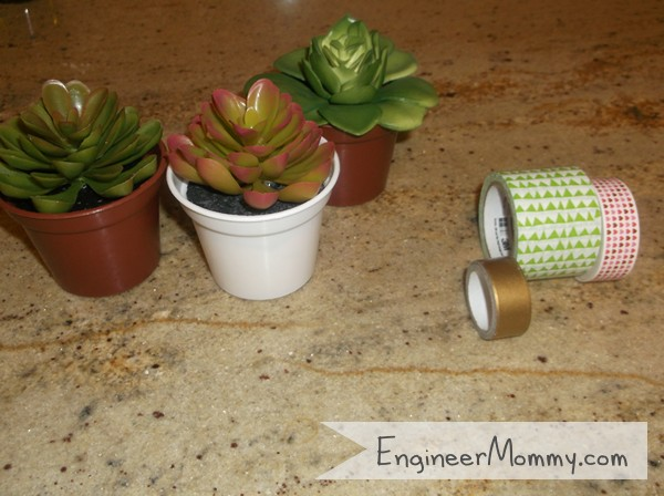 Supplies for Washi Tape Succulents
