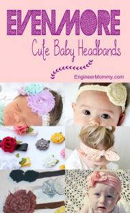 More Cute Baby Headbands {DIY}
