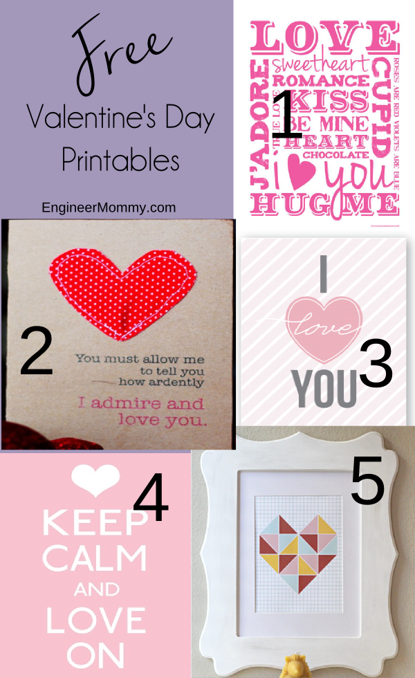 Valentine's Day Free Printables