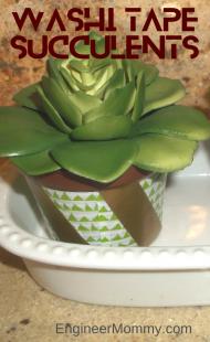 Dollar Store Washi Tape Succulents