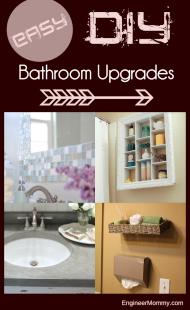 Easy DIY Bathroom Upgrades