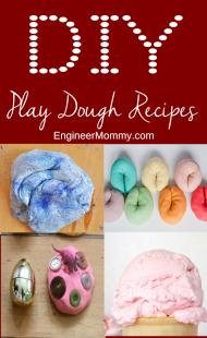 DIY homemade play dough recipes