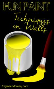 Fun Paint Techniques on Walls