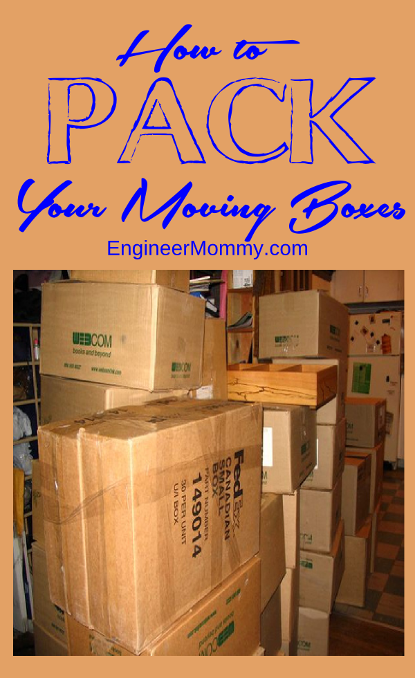 How to Pack Your Moving Boxes