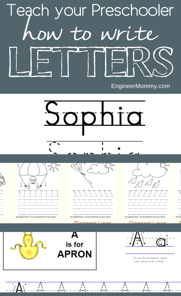 teach your preschooler to practice writing letters