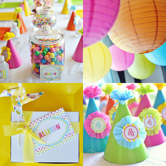 This Rainbow Theme Is Bright And Colorful And Sure To Delight The Little Ones