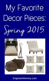Favorite Home Decor Pieces: Spring 2015